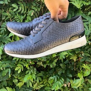 Vince Textured Leather Sneakers